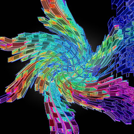 Windmill by Dawn Marie - Abstract Patterns ( abstract, turn, squares, colors, twist, windmill,  )