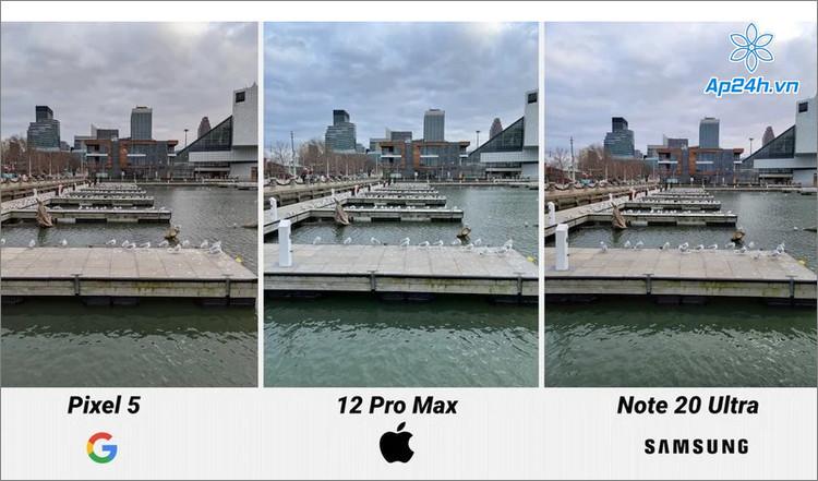 Chụp ảnh ngoài trời với iPhone 12 Pro Max, Pixel 5 và Galaxy Note 20 Ultra