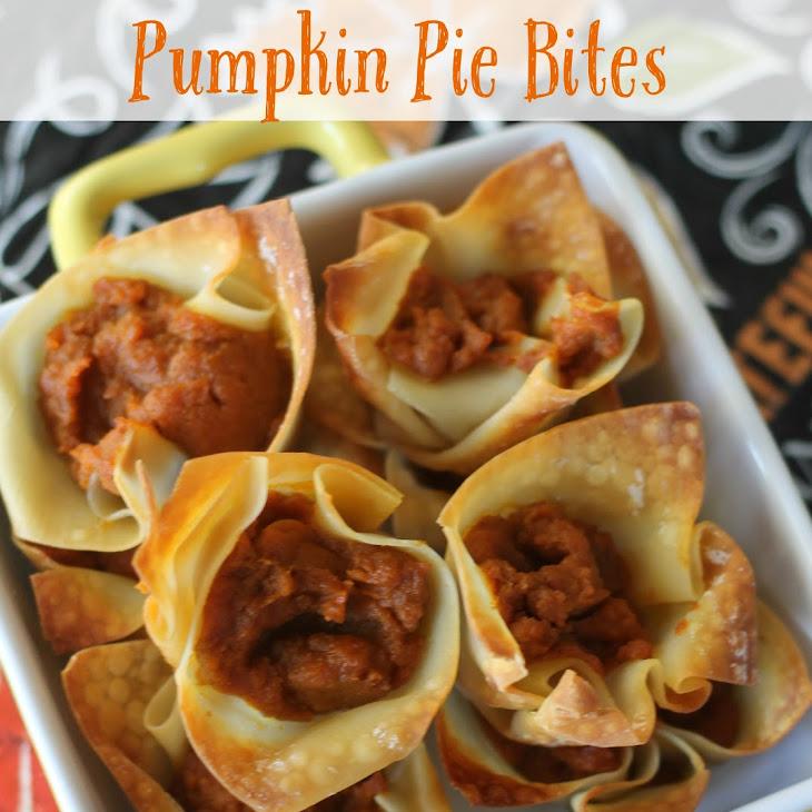 Skinny Mini Pumpkin Pie Bites Recipe