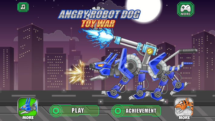 Angry Robot Dog Toy War - screenshot