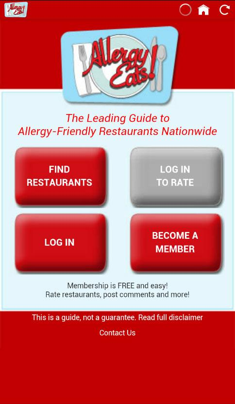 AllergyEats- screenshot