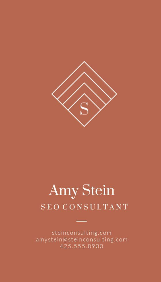 Stein SEO Consultant - Business Card Template
