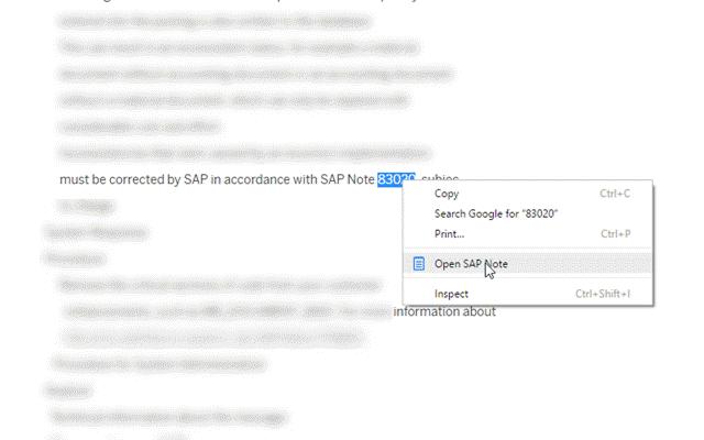 Open SAP Note