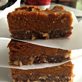 Paleo Pecan Pumpkin Pie Bars