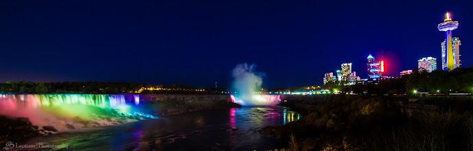 Photo: Niagara Falls by Night, Niagara Falls, Ontario, Canada