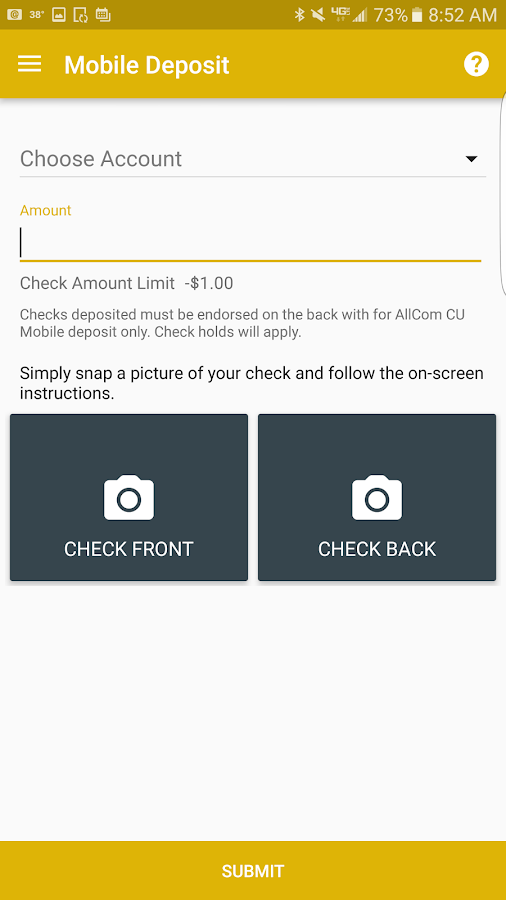 AllCom CU Mobile Banking- screenshot