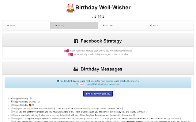 Birthday Well-Wisher