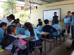 Photo: Our friend Manaslu Gurung giving suggestions to the students