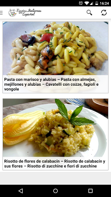 Recetas Italianas - screenshot