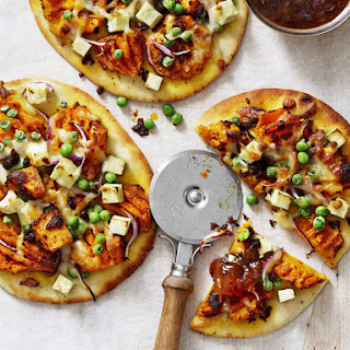 Naan Pumpkin Pizza