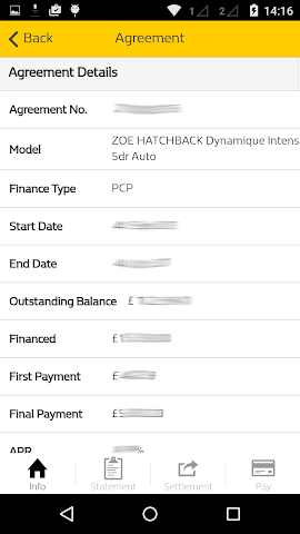 android Renault Finance Screenshot 2