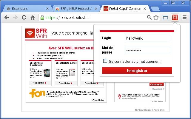 SFR / NEUF Hotspot AutoFill