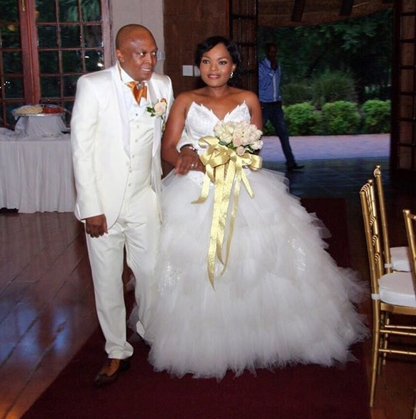 The late Robbie Malinga and widow Ann Malinga.