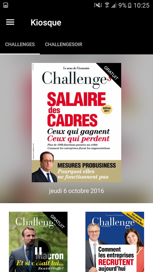 Challenges le magazine- screenshot