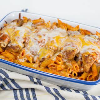 Chicken Parmesan w/Penne Pasta.