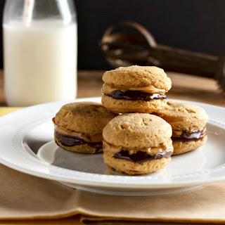Chocolate Nut Butter Sandwich Cookies Low Carb.