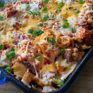 Loaded Four Cheese Buffalo Chicken Bake