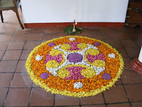 Photo: Pookkollam floral tribute for Onam Festival