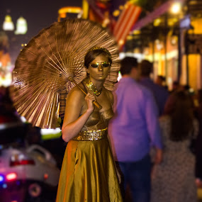 Golden Lady- Bourbon St, New Orleans by Shashank Shekhar - People Street & Candids