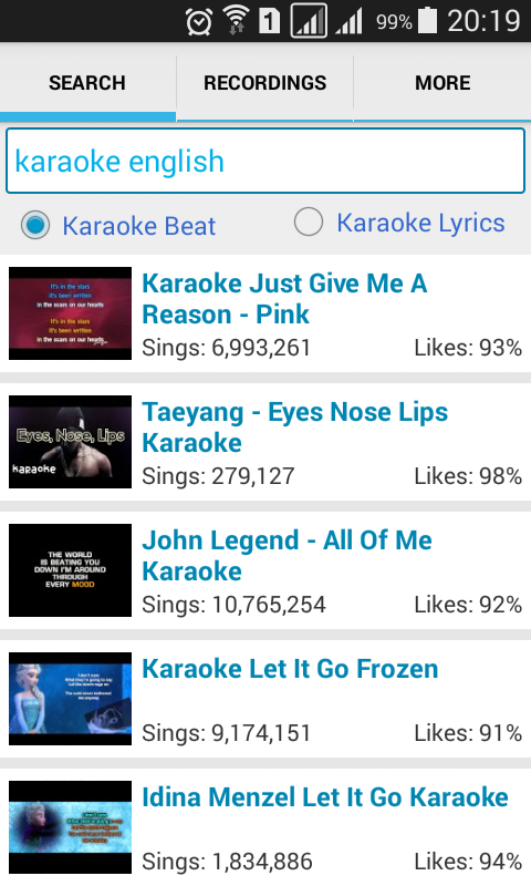 Simple Karaoke Record- screenshot