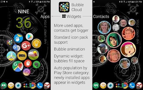 Bubble Cloud Widgets + Folders for phones/tablets - náhled