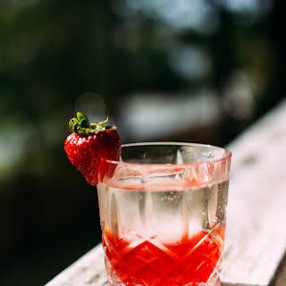 Strawberry, Basil + Pink Peppercorn Negroni.