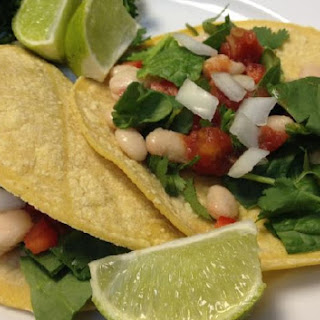 Spinach and Bean Soft Tacos.