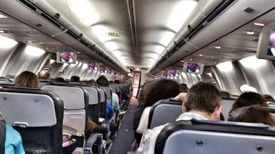 """Photo: Самолет болтало почему-то почти всю дорогу. Хорошо мы не подвержены авиационной болезни. Посмотрели по дороге """"Великого Гэтсби"""""""