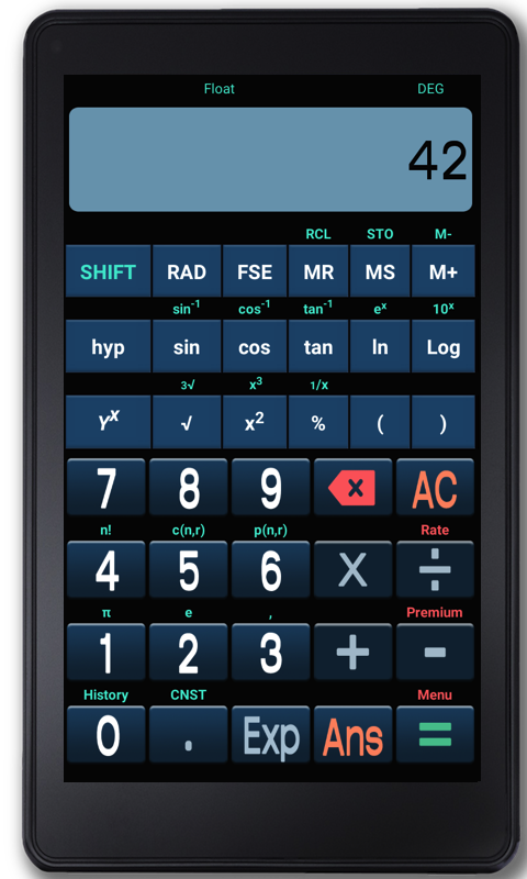 Speaking Scientific Calculator- screenshot