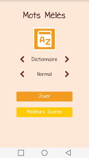 Mots Mêlés Android App Screenshot