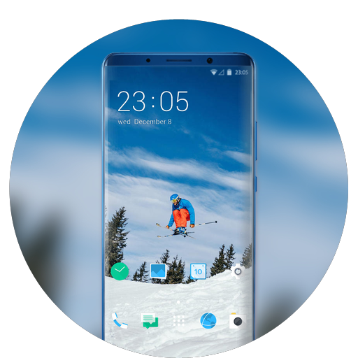 Theme for sports life skiing wallpaper icon