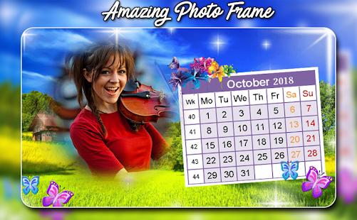 2018 Calendar Photo Frame - Calendar Photo Editor - náhled
