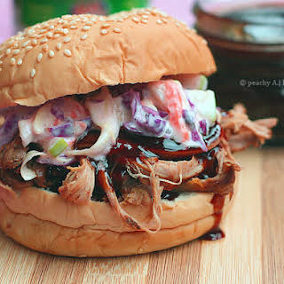 Pulled Pork Sandwich with Apple Coleslaw.