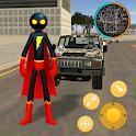 Superhero Stickman Rope Hero Vegas City Gangster icon