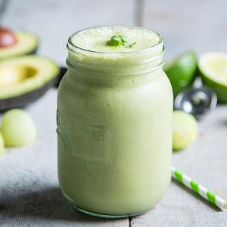 Honeydew-Avocado Protein Shake.