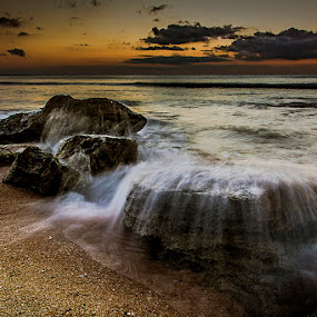 Voiceless by Sonny Saban - Landscapes Waterscapes ( rote, wave, sea, termanu, travel, beach, dusk, island )
