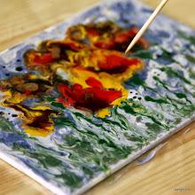 Photo: Маки - красками Pebeo по керамике и стеклу пишем на холстах!