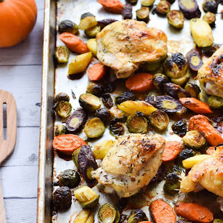 Sheet Pan Chicken and Brussel Sprouts Recipe