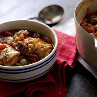 Chorizo, Chicken And Chickpea Casserole.