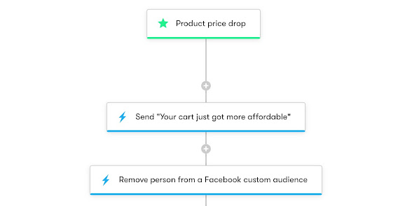 Drip Workflow - Shopper Activity API Cart Abandonment with Product Price Drop