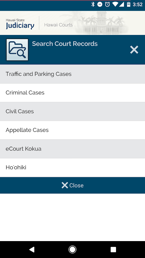Hawaii Courts- screenshot