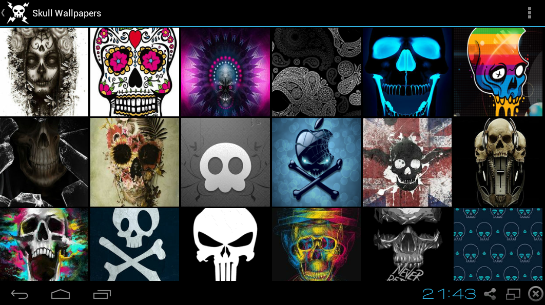 skull wallpapers android apps on google play