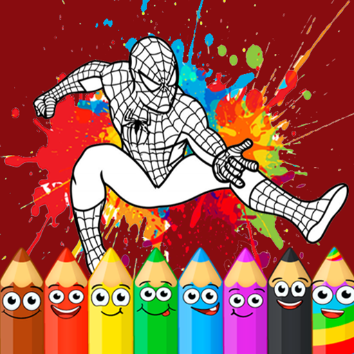 Coloring Game New: Superhero Man