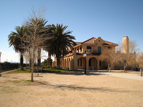 """Photo: Kelso Depot used to be an old train station. It has been restored to its full glory in 2007 and now hosts a small museum about the desert and a """"beanery"""" (cafe). The depot is almost a mandatory stop for anyone cruising on Kelbaker Rd."""