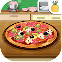 Cooking pizza icon