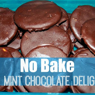 No Bake Thin Mint Chocolate Delights.
