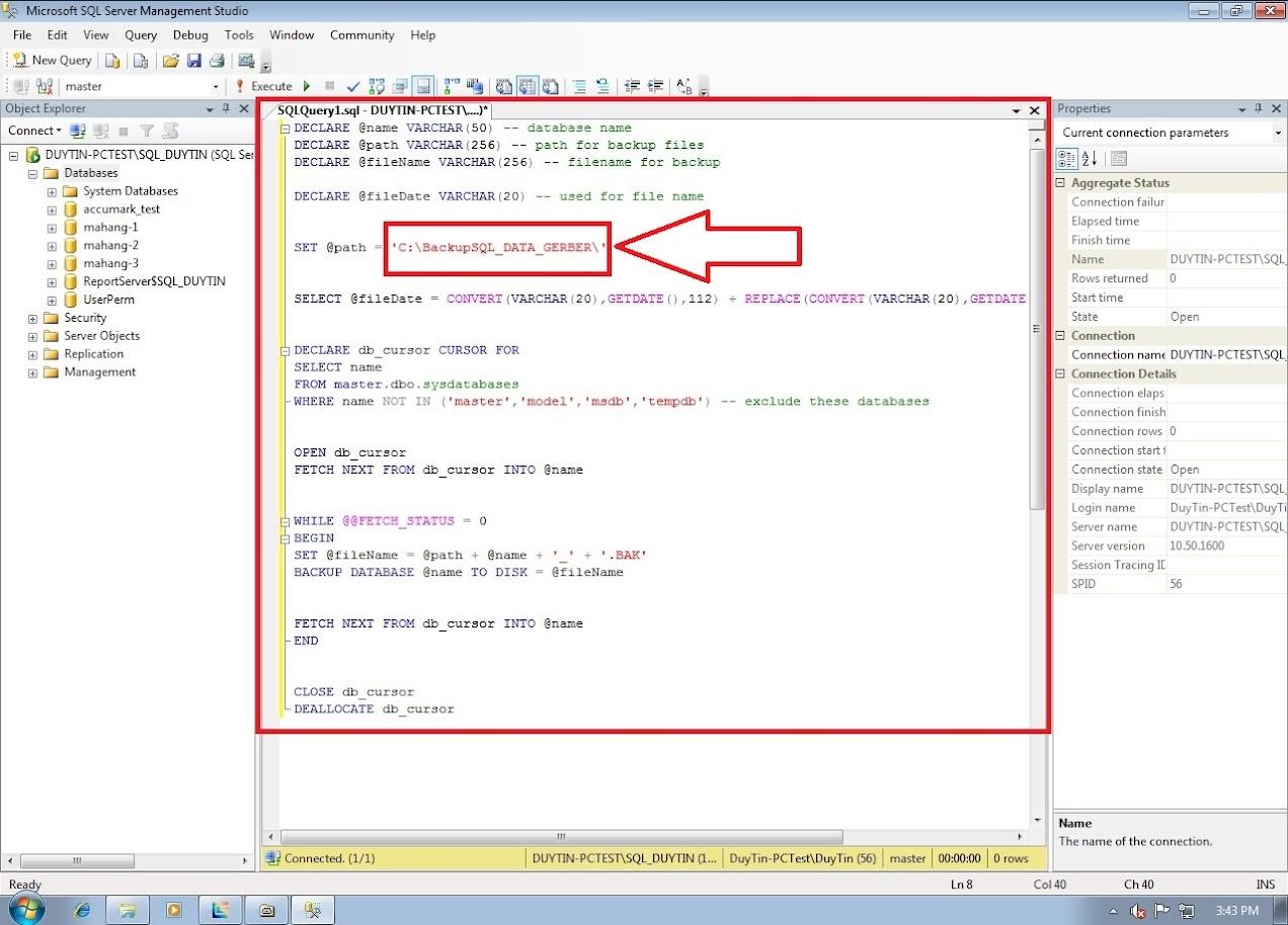 Hướng Dẫn Backup Và Restore Databases Gerber Accumark Trong SQL Server 13