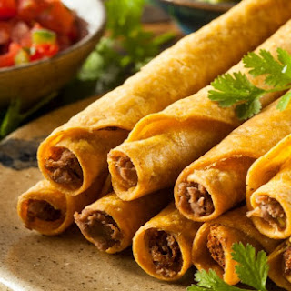 Easy Oven-Baked Taquitos.