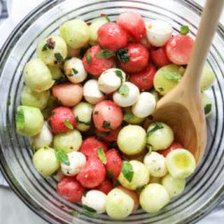 Marinated Mozzarella Melon Salad.