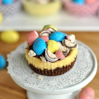 Mini Malt Ball Cheesecakes with Chocolate Ganache